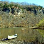 Rock Eddy Bluff from the river