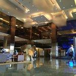 Half the huge lobby