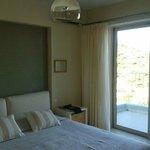 Master bedroom at villa Maja