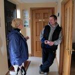 Noel greeted us at the door