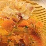 carpaccio di pesce spada e di salmone