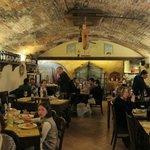 A taverna bem antiga.