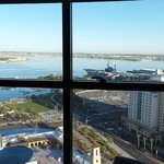 View from bedroom over USS Midway