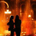 Поющие фонтаны на площади Республики