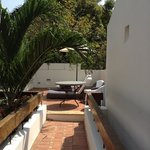 Private Terrace for my 2nd Floor Room