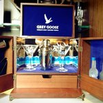 Grey Goose Cocktail set in the room mini bar