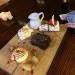 A trio of desserts