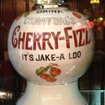 Cheerful Cherry Antique Syrup Dispenser