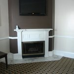 Lovely fireplace in suite