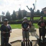Anne, Matthew, Ryan ~ Rocky Statue