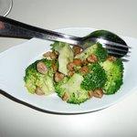 Broccoli with Bleu d'Auvergne dressing