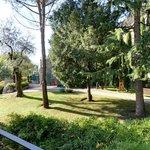 Im Park zwischen Rezeption und Residenza