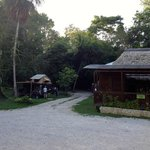 Camping off the restaurant at Jaguar Inn, Tikal