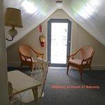 Room 37 - Third Floor Victorian - Walkway to Balcony