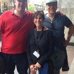 Rene and Simon together with Bobbie Edelman