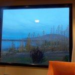 Vista da janela do apartamento. Parece um quadro!