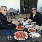 The tasting lunch at the Mozzarella farm.  So good!