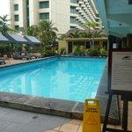 La piscina collocata al 2° piano