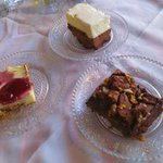 Assortment of desserts
