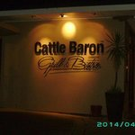 sign outside the cattle baron.