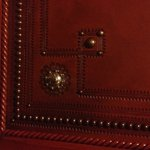 Leather detailing on the Elevator walls