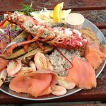 Our cold crab and lobster platter for two - delish!!