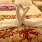 Decoração com as toalhas