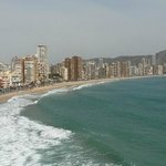 Benidorm beach area
