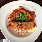 Roast Salmon - lovely!