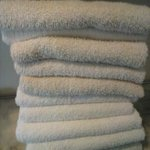 discolored towels dingy