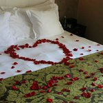 They decorated the room for our honeymoon!
