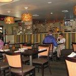 Interior of restaurant - great lights