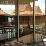Reflection in the balcony door