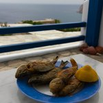 Freshly caught fish fried by our hosts!