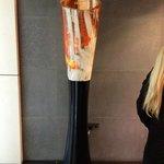 Escultura en el Hall del hotel