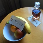 Complimentary fruit & sherry
