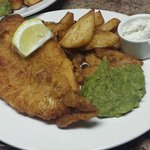 Homemade Fish, Chips and Mushy Peas
