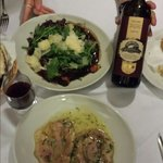 Veal done two ways... House special on top and Saltimboca