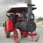 Steam engine under power