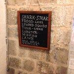 Short and simple menu board.