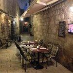 Al fresco seating area adjacent to restaurant.