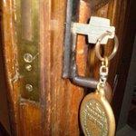 Chaveiro da porta do apartamento