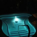 Hot tub and pool open all night.