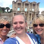 Triple selfie at Ephesus