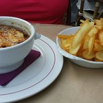 French onion soup and pomme frites.