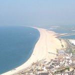 View point of Chesil Beach from Portland