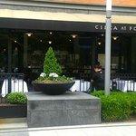 Circa Restaurant - the front patio