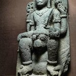 Vishnu Seated on Garuda from central Java 8th-9th century CE Volcanic Stone