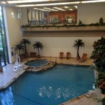 Indoor pool & gym upstairs