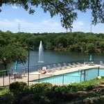 Outdoor pool & lake